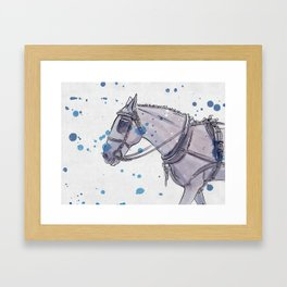 tongue out hack Framed Art Print