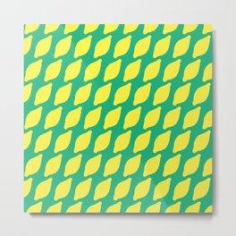 Sour Lemons Summer Pattern Metal Print