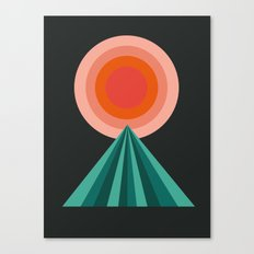 Way Decent - 70s retro throwback minimal sun california socal 1970's style Canvas Print