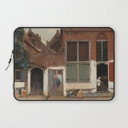 Johannes Vermeer - The little street Laptop Sleeve