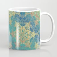 henna Mugs featuring Blue Henna by Truly Juel
