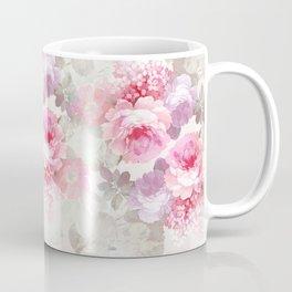 Elegant blush pink lavender ivory romantic roses floral Coffee Mug