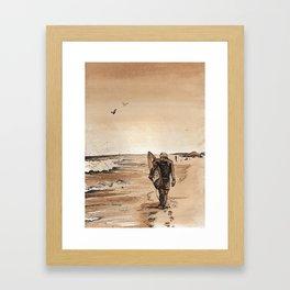 Coffee Art- Surf Framed Art Print