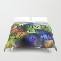 home sweet home Duvet Covers featuring Home Sweet Home by ThePhotoGuyDarren