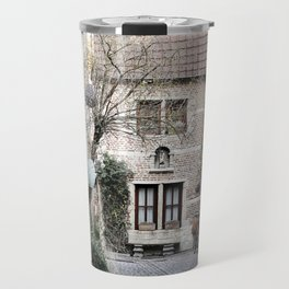 A quaint alley in the beguinage Travel Mug