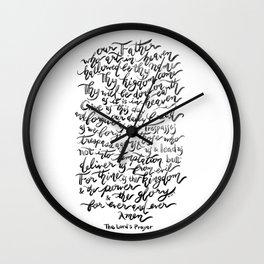 The Lord's Prayer - BW Wall Clock