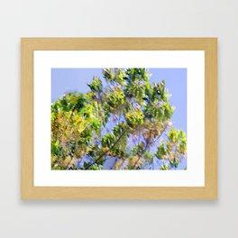 Wind in my tree Framed Art Print