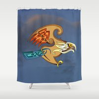 hawk Shower Curtains featuring Hawk by Knot Your World