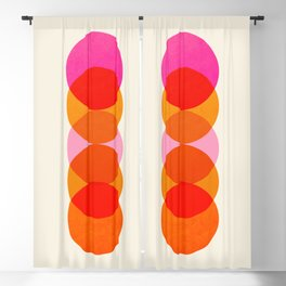 Abstraction_COLOUR_CIRCLES_001 Blackout Curtain