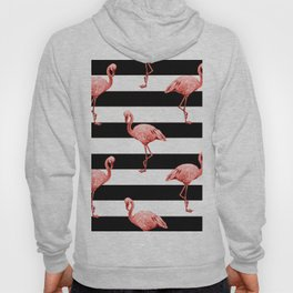 Living Coral Flamingo Stripes Hoody