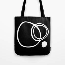 Black and White Circles Abstract Modern Tote Bag