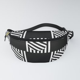 Chequered Turning Point - Black & White Fanny Pack