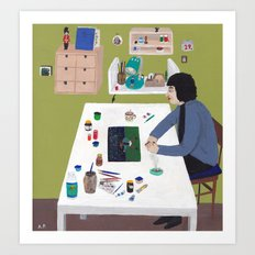 Workspace Art Print