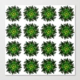 The Majesty Palm Light Flower (Pattern) Canvas Print