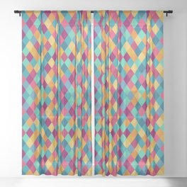 Colored Diamonds Sheer Curtain