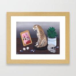 Still Life with Leopard Framed Art Print
