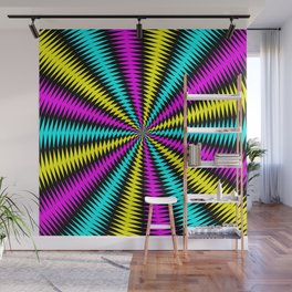 Tunnel of Distraction Remix 2 Wall Mural