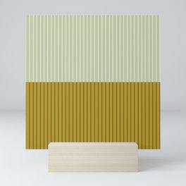 Color Block Lines XXI Moss Mini Art Print