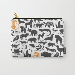 Orange Cheetah Conservation Nation Carry-All Pouch