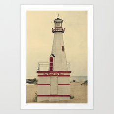 New Buffalo Lighthouse Art Print
