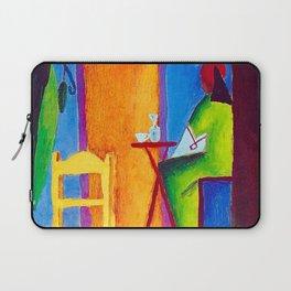 The Sad Cafe tropical still life portrait painting Laptop Sleeve