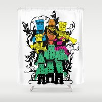 poker Shower Curtains featuring Poker Toys by elRAiSE