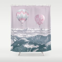 Surreal Journey In A Hot Air Ballon Shower Curtain