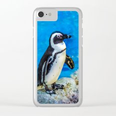 Penguin meeting Clear iPhone Case