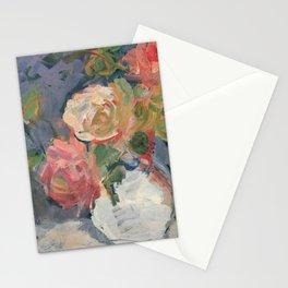 Kida Kinjiro - Roses in White Vase (1960) Stationery Cards