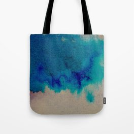 WaterColor Multi Blue Print Tote Bag