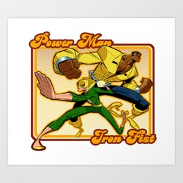 Power Man Iron Fist 2 Art Print