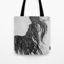 Hair in Profile Tote Bag