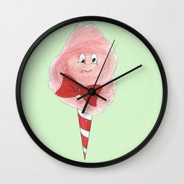 Tipsy Candyfloss - Green Wall Clock