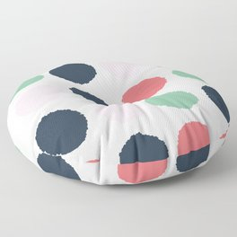 Painted dots abstract minimal modern art print for minimalist home decor nursery Floor Pillow