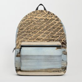 Map Of Galveston 1871 Backpack