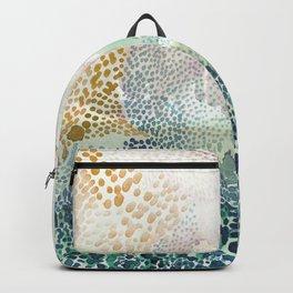 Flower burst; gold Backpack