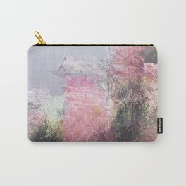 Wild Roses in Motion - Glitch Carry-All Pouch