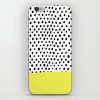polka dot iPhone & iPod Skins featuring Polka dot rain dip by Maiko Nagao