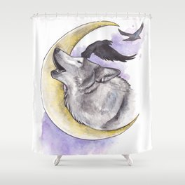 Crescent Howl Shower Curtain