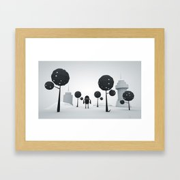 BLK FOREST Framed Art Print