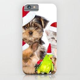 Animal Pets Christmas Pet Puppy Kitten Hamster Gui iPhone Case