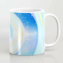 Icy Golden Winter Swirl :: Floating Geometry Coffee Mug