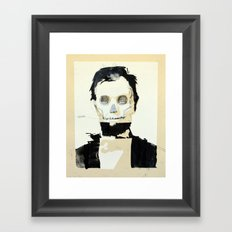 Abraham Lincoln (skull) Framed Art Print