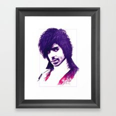 Prince In Purple Framed Art Print