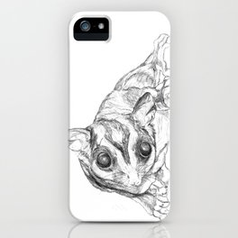 A Sketch :: A Sugar Glider Named Loki iPhone Case