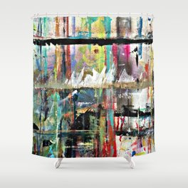 Colorful Bohemian Abstract 3 Shower Curtain