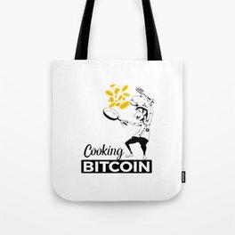 Cooking Bitcoin Tote Bag