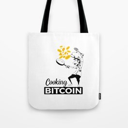 Cooking Bitcoin Tote Bag