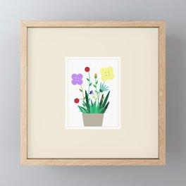 Flowers in a Frame Framed Mini Art Print