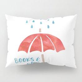 Books and Rain Pillow Sham